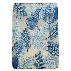Flowers Blue Patterns Fabric Flap Covers (l)  by Nexatart