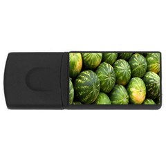Food Summer Pattern Green Watermelon Usb Flash Drive Rectangular (4 Gb)