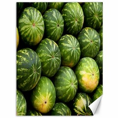 Food Summer Pattern Green Watermelon Canvas 36  X 48   by Nexatart
