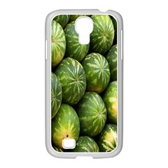 Food Summer Pattern Green Watermelon Samsung Galaxy S4 I9500/ I9505 Case (white)