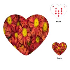 Flowers Nature Plants Autumn Affix Playing Cards (heart)  by Nexatart