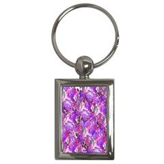 Flowers Abstract Digital Art Key Chains (rectangle)