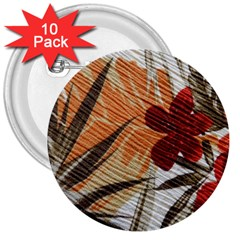 Fall Colors 3  Buttons (10 Pack)