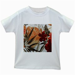 Fall Colors Kids White T Shirts