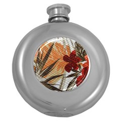 Fall Colors Round Hip Flask (5 Oz) by Nexatart