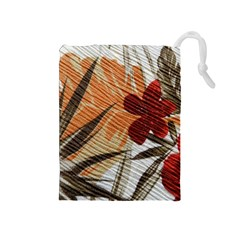 Fall Colors Drawstring Pouches (medium)  by Nexatart