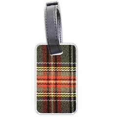 Fabric Texture Tartan Color Luggage Tags (one Side)  by Nexatart