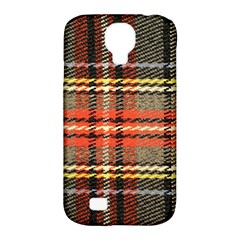 Fabric Texture Tartan Color Samsung Galaxy S4 Classic Hardshell Case (pc+silicone) by Nexatart