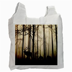 Forest Fog Hirsch Wild Boars Recycle Bag (one Side)