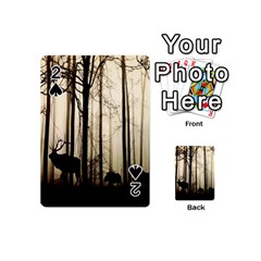 Forest Fog Hirsch Wild Boars Playing Cards 54 (mini)  by Nexatart