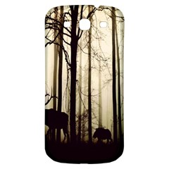 Forest Fog Hirsch Wild Boars Samsung Galaxy S3 S Iii Classic Hardshell Back Case by Nexatart