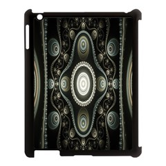 Fractal Beige Blue Abstract Apple Ipad 3/4 Case (black) by Nexatart