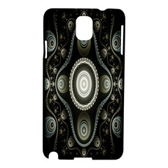 Fractal Beige Blue Abstract Samsung Galaxy Note 3 N9005 Hardshell Case by Nexatart