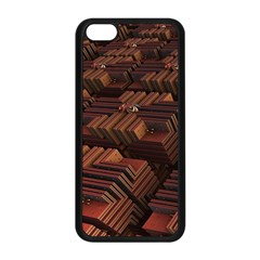 Fractal 3d Render Futuristic Apple Iphone 5c Seamless Case (black) by Nexatart