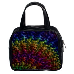 Fractal Art Design Colorful Classic Handbags (2 Sides) by Nexatart