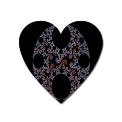 Fractal Complexity Geometric Heart Magnet