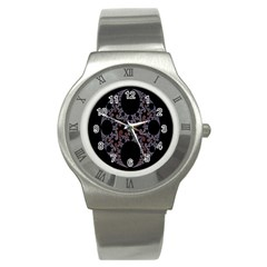 Fractal Complexity Geometric Stainless Steel Watch