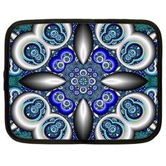 Fractal Cathedral Pattern Mosaic Netbook Case (large) by Nexatart