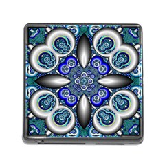 Fractal Cathedral Pattern Mosaic Memory Card Reader (square) by Nexatart