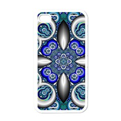 Fractal Cathedral Pattern Mosaic Apple Iphone 4 Case (white)