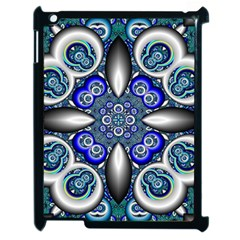 Fractal Cathedral Pattern Mosaic Apple Ipad 2 Case (black) by Nexatart