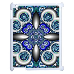Fractal Cathedral Pattern Mosaic Apple Ipad 2 Case (white) by Nexatart