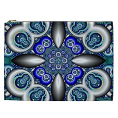 Fractal Cathedral Pattern Mosaic Cosmetic Bag (xxl)  by Nexatart