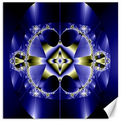 Fractal Fantasy Blue Beauty Canvas 12  X 12   by Nexatart
