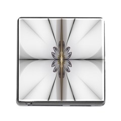 Fractal Fleur Elegance Flower Memory Card Reader (square) by Nexatart
