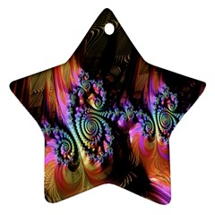 Fractal Colorful Background Ornament (star) by Nexatart