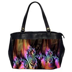 Fractal Colorful Background Office Handbags (2 Sides)