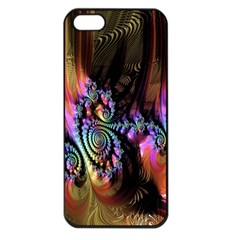 Fractal Colorful Background Apple Iphone 5 Seamless Case (black)