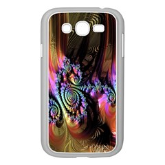 Fractal Colorful Background Samsung Galaxy Grand Duos I9082 Case (white) by Nexatart