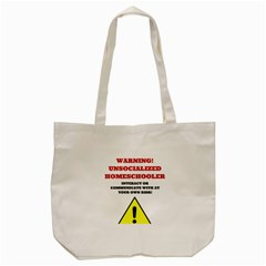 Warning Tote Bag (cream) by athenastemple