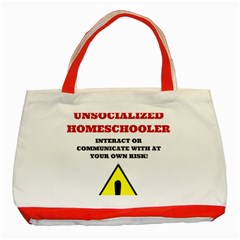 Warning Classic Tote Bag (red) by athenastemple