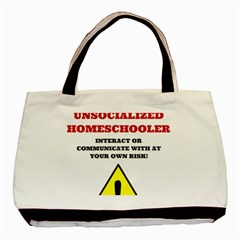 Warning Basic Tote Bag (two Sides) by athenastemple