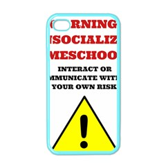 Warning Apple Iphone 4 Case (color) by athenastemple
