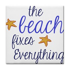 The Beach Fixes Everything Tile Coasters by OneStopGiftShop
