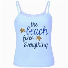 The Beach Fixes Everything Baby Blue Spaghetti Tank by OneStopGiftShop