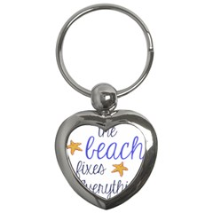 The Beach Fixes Everything Key Chains (heart)  by OneStopGiftShop