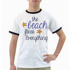 The Beach Fixes Everything Ringer T Shirts by OneStopGiftShop