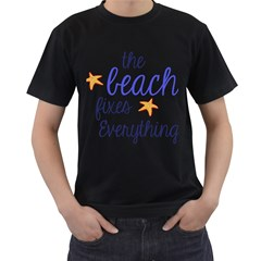 The Beach Fixes Everything Men s T Shirt (black) (two Sided) by OneStopGiftShop