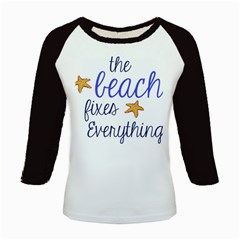 The Beach Fixes Everything Kids Baseball Jerseys by OneStopGiftShop