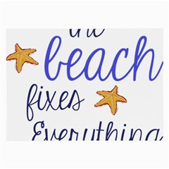 The Beach Fixes Everything Large Glasses Cloth (2 Side) by OneStopGiftShop