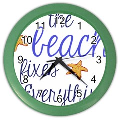 The Beach Fixes Everything Color Wall Clocks by OneStopGiftShop