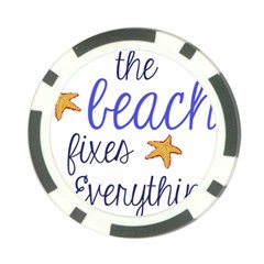 The Beach Fixes Everything Poker Chip Card Guard (10 Pack)