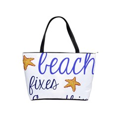 The Beach Fixes Everything Shoulder Handbags by OneStopGiftShop