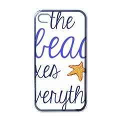 The Beach Fixes Everything Apple Iphone 4 Case (black) by OneStopGiftShop