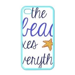 The Beach Fixes Everything Apple Iphone 4 Case (color)