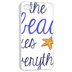 The Beach Fixes Everything Apple Iphone 4/4s Seamless Case (white)